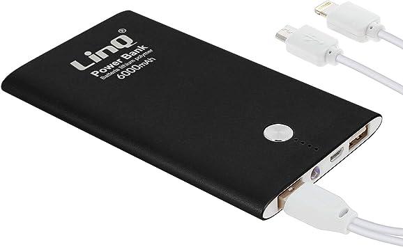 Linq - Batería Externa de 6000 mAh, 3 A, para Smartphones y ...