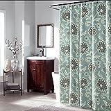 JaHGDU Shower Curtain 1pcs Shower Curtain Polyester Fabric Waterproof Bathroom Amenities Opaque Mildewproof Thickened Premium Durable Floral Printing (Color : 150cm200cm)