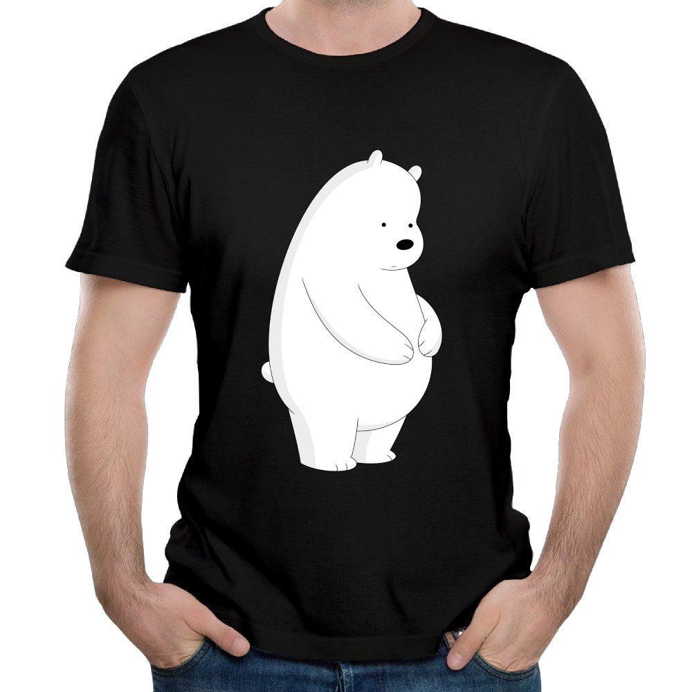 Guy's We Bare Bears Polar Bear Ice Bear Graphic Tank Tops