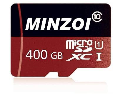Tarjeta Micro SD de 128GB / 256GB / 400GB Tarjeta de Memoria Micro SDHC Clase 10 de Alta Velocidad para teléfono, Tableta y PC - con Adaptador
