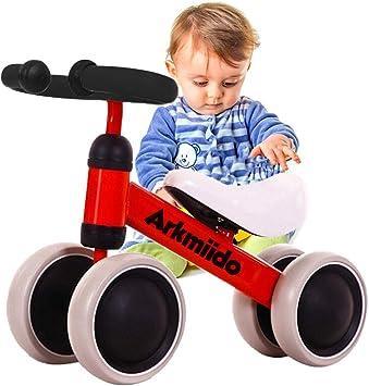 Bicicleta Bebé Equilibrio, Baby Balance Bicicleta, Bicicleta Bebé sin Pedales Juguetes Bebes 1-3 años (Rojo): Amazon.es: Juguetes y juegos