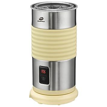 Espumador de leche eléctrico automático GemEView de 200 ml de acero inoxidable, para capuchino con espuma caliente y fría: Amazon.es: Hogar