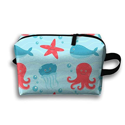 eff80799050f Amazon.com: MCWO GRAY Octopus And Whales Cute Large Storage Travel ...