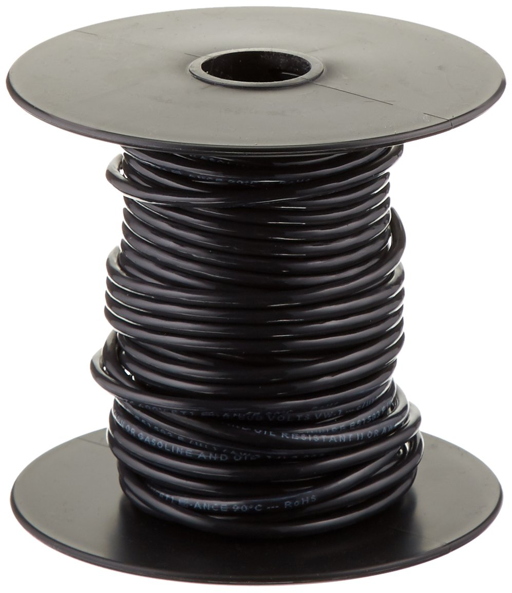 Southwire 22955951 50\' 14 Black Stranded THHN Wire - Electrical ...
