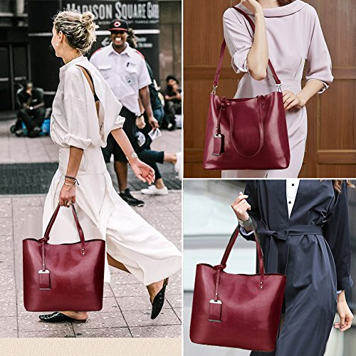Purse Bag Handle Women Messenger Tote Handbags Top Satchel Red Shoulder nCUvvBq8wX