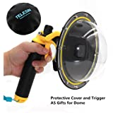 Vicdozia Telesin 6'' Dome Port Lens Transparent Cover for GoPro Hero 6/Hero 5/GoPro HERO (2018) with Waterproof Housing Case Hand Floating Grip and Trigger, Underwater Diving Photography Accessories