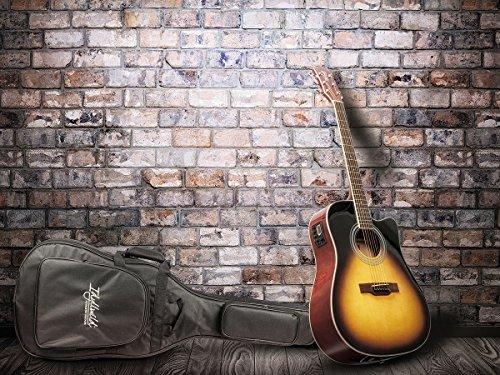 Idyllwild Foothill Acoustic Electric Guitar with Tuner, Pickup & Gig Bag, Vintage Sunburst (610063)
