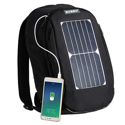 XLY Impermeable Solar Laptop Mochila, Bolsa de la Escuela + ...