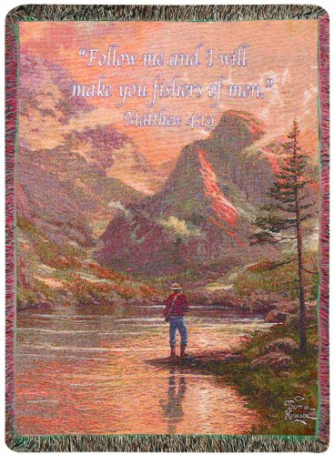 e Collection Tapestry Throw, Almost Heaven with Verse, 50 X 60-Inch (Thomas Kinkade Bible Cover)