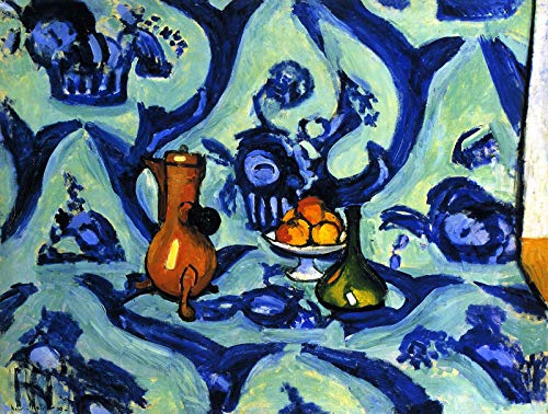 (Henri Matisse Still Life with Blue Tablecloth 1909 The State Hermitage Museum St Petersburg 30