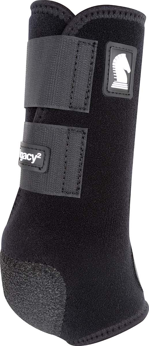 Classic Equine Legacy2 System Front Boot (Solid), Black, Medium