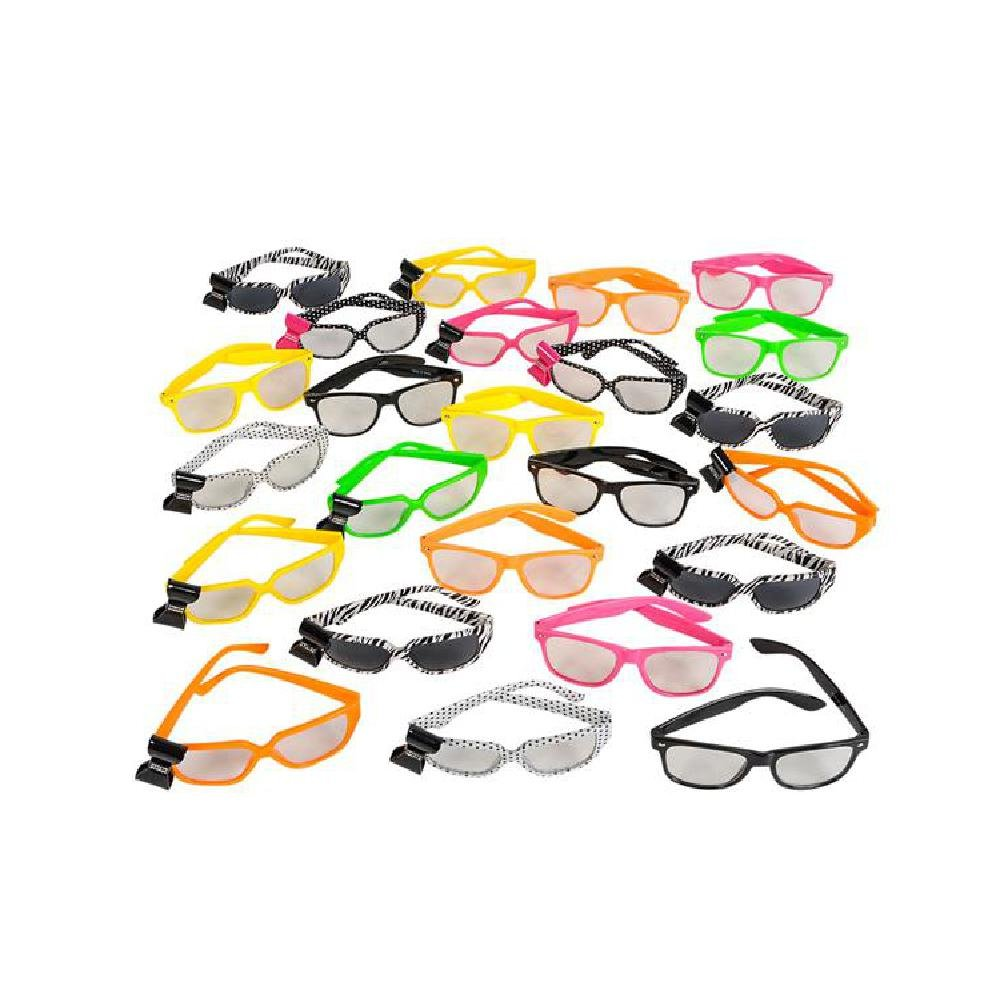 24Pc Nerd Glasses Assortment by Bargain World