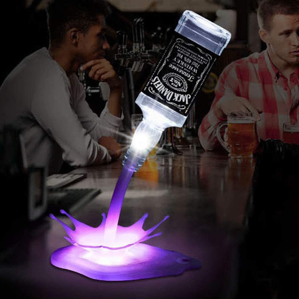 ocijf179 Portable Touch Switch USB Bottle Pour Wine Lamp Bar Party Decor Night Light