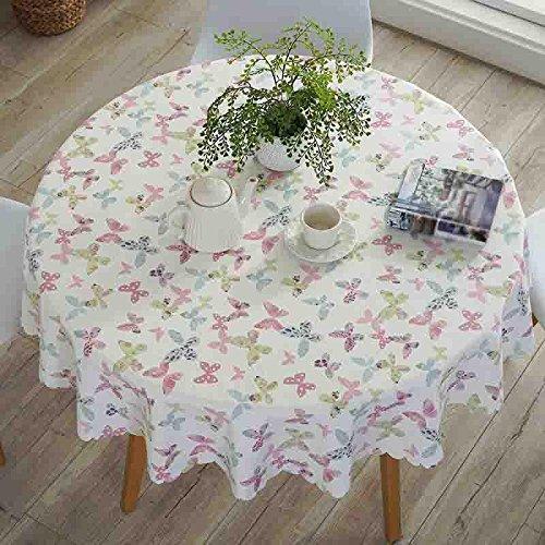 Xiaowu Pastoral Tischdecken Hotel Home Esstisch Matte Wasserdicht Anti-Heißöl, 001, Round 240cm B07BMVGWFP Tischdecken Qualität zuerst  | Kunde zuerst