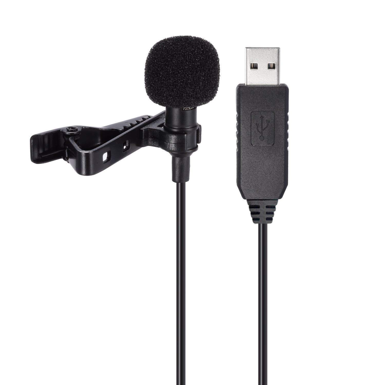 Microfono Usb Sumje, Condensador Omnidireccional, Solapa, Clip Lavalier En El Microfono Para Computadora, Computadora Po