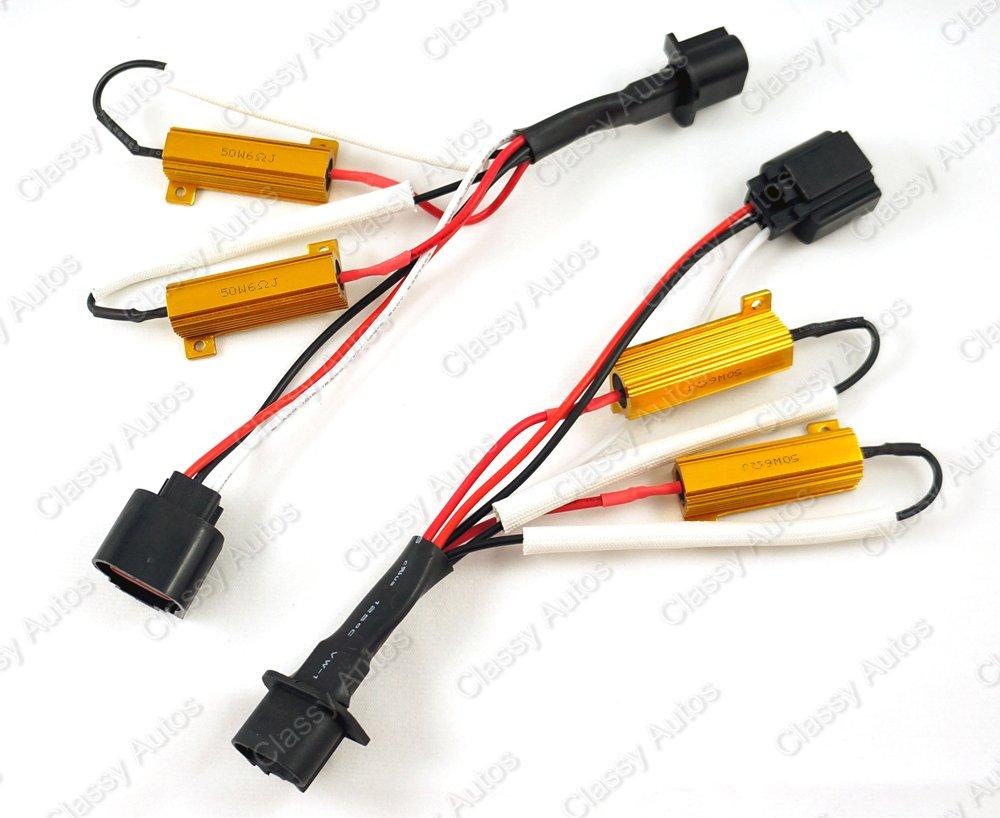 Classy Autos H13 9008 Hid Conversion Kit Error Free W 2009 Hhr Headlight Wiring Harness Load Resistor Adapter 2 Pieces Automotive