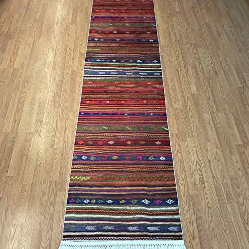 Turkish Kilim Design Runner Rug for Hallway Entryway Kitchen Living Room 3