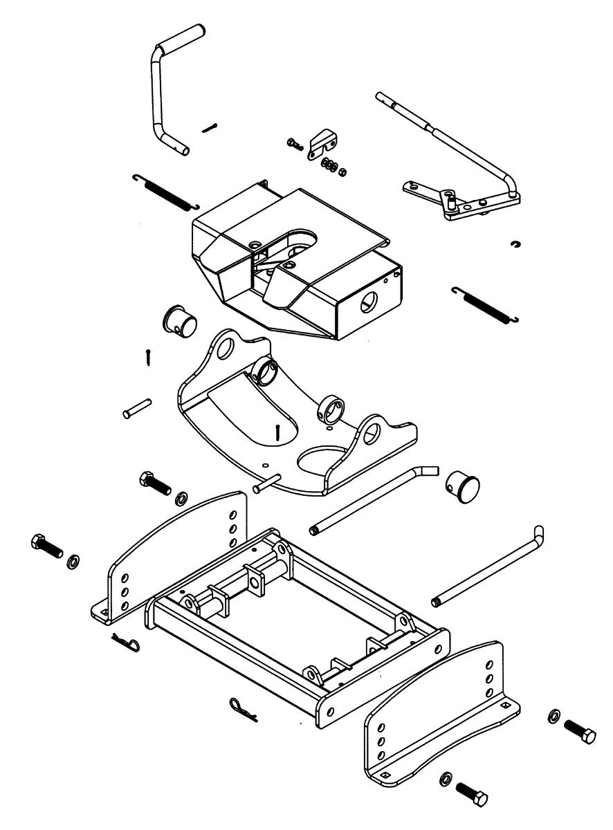 Reese Fifth Wheel Hitch Parts Diagram Wiring Will Be A Thing Trailer Schematics Amazon Com 30054 Low Profile 30000 Lb Load Rh 5th Accessories