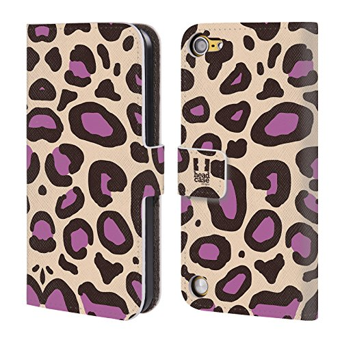 Head Case Designs Porpora Neutro Stampe Pazze 2 Cover a portafoglio in pelle per iPod Touch 5th Gen / 6th Gen
