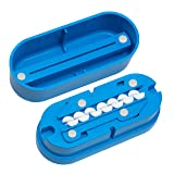 Multiple Pill Splitter. Original Patented Design, with Accurate Pill Alignment, Sturdy Cutting Blade and Blade Guard, for Splitting and Quartering Round or Oblong Pills.US Patent No. 9,827,165. (Color: Blue)