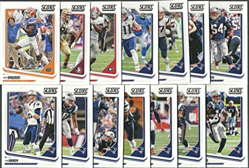 2018 Panini Score Football New England Patriots Team Set 14 Cards W/Drafted Rookies