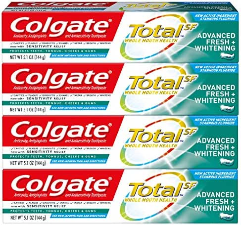 Toothpaste: Colgate Total Advanced Fresh + Whitening