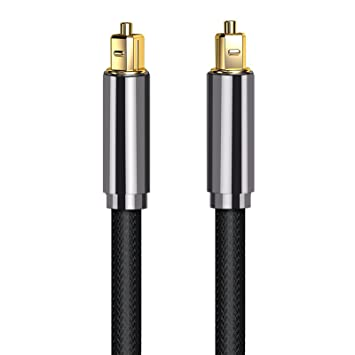 Proster Optical TOSLINK Digital Audio Cable Master Gold Fiber Optic Audio Cable Home Theater Fiber (