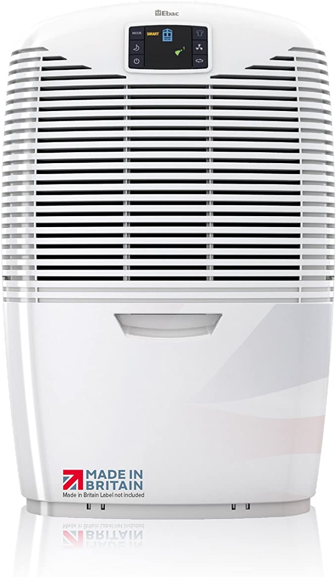 Ebac 3850e Most Powerful 21 Litre Dehumidifier for Condensation, Damp and Mould with Smart Auto Function, Air Purification and Laundry Drying Modes,