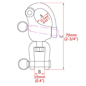 Amazon Com Nrcxrc Pair Jaw Swivel Snap Shackle 316 Stainless