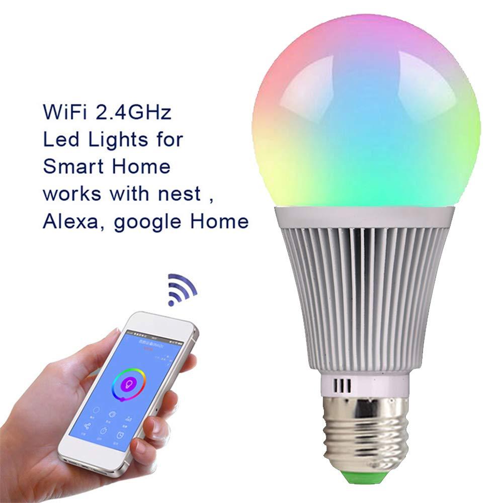 ... Wake-Up Lights for Alexa & Google Assist Smart Life Alexa Google Assistant led WiFi Bulb ampoule lamp bombillas inteligente dimmable Lamp - - Amazon.com