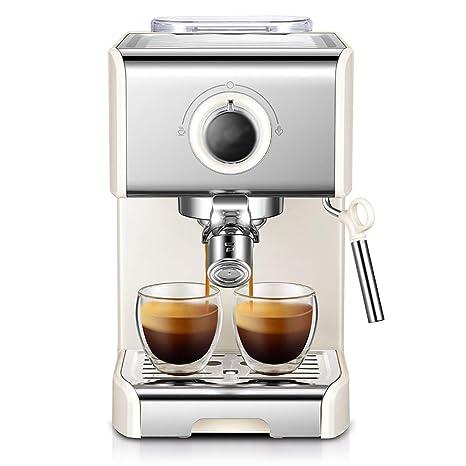 LJHA kafeiji Máquina de café Espresso, Bomba de café máquina de café semiautomática pequeña máquina