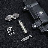 Slim Titanium Keychain Pill Holder Container for