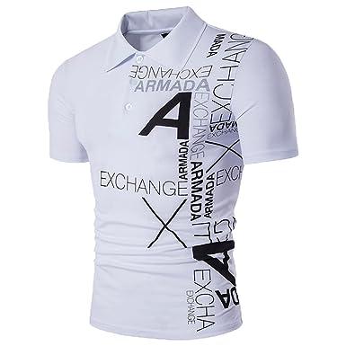 Imprimé Slim Shirts Manche Courte T Homme Glestore Shirt Polo Casual CerxdBo