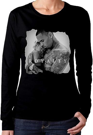 YYdg Chris Brown Royalty Camiseta de algodón para Mujer Ropa de ...