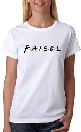 kharbashat Faisal T-Shirt For Women, Size S, White