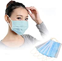 Mchoice 50 PCS Disposable Earloop Face Mask Filters Bacteria Breathable Beauty Medical 3 PLY