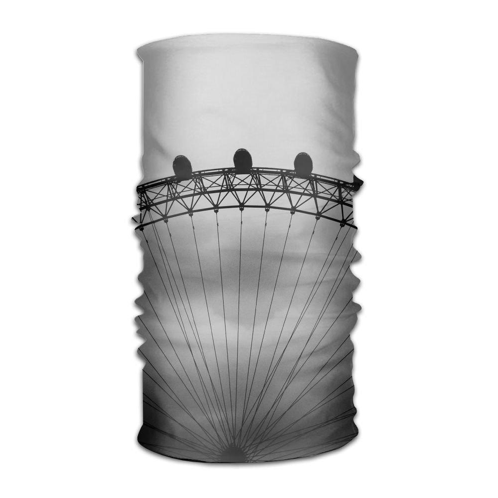 Owen Pullman Multifunctional Headwear Ferris Wheel Black And White Head Wrap Elastic Turban Sport Headband Outdoor Sweatband