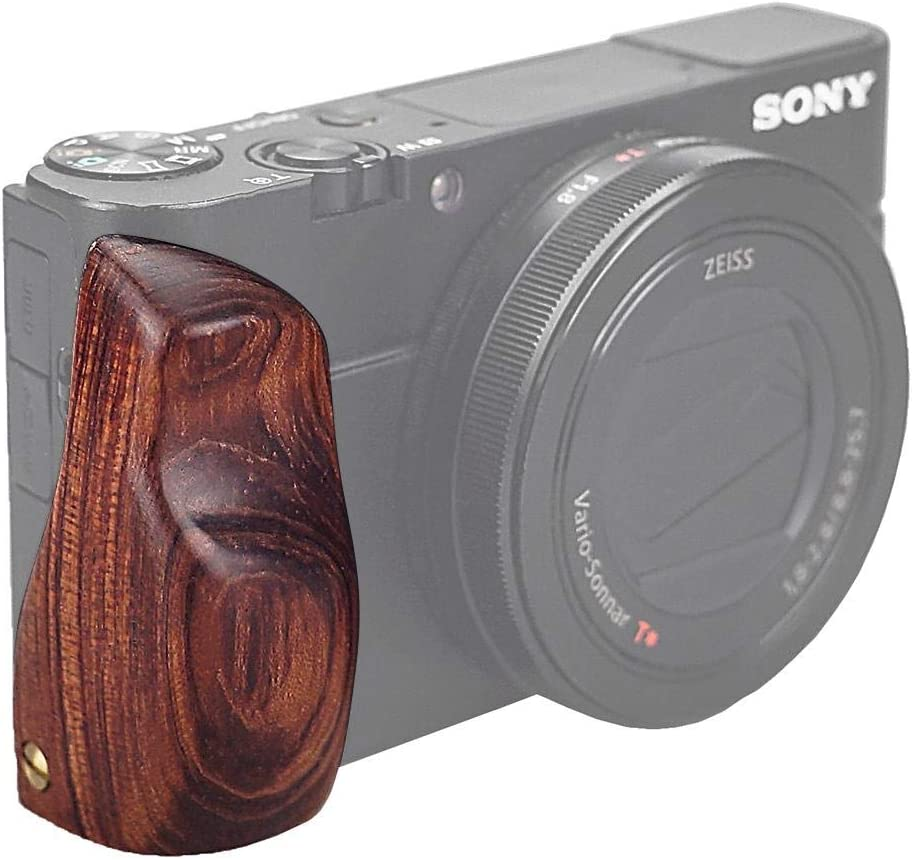 Fotodiox Pro Wooden Camera Hand Grip Compatible With Sony Cyber Shot Dsc Rx100 Iv Cameras