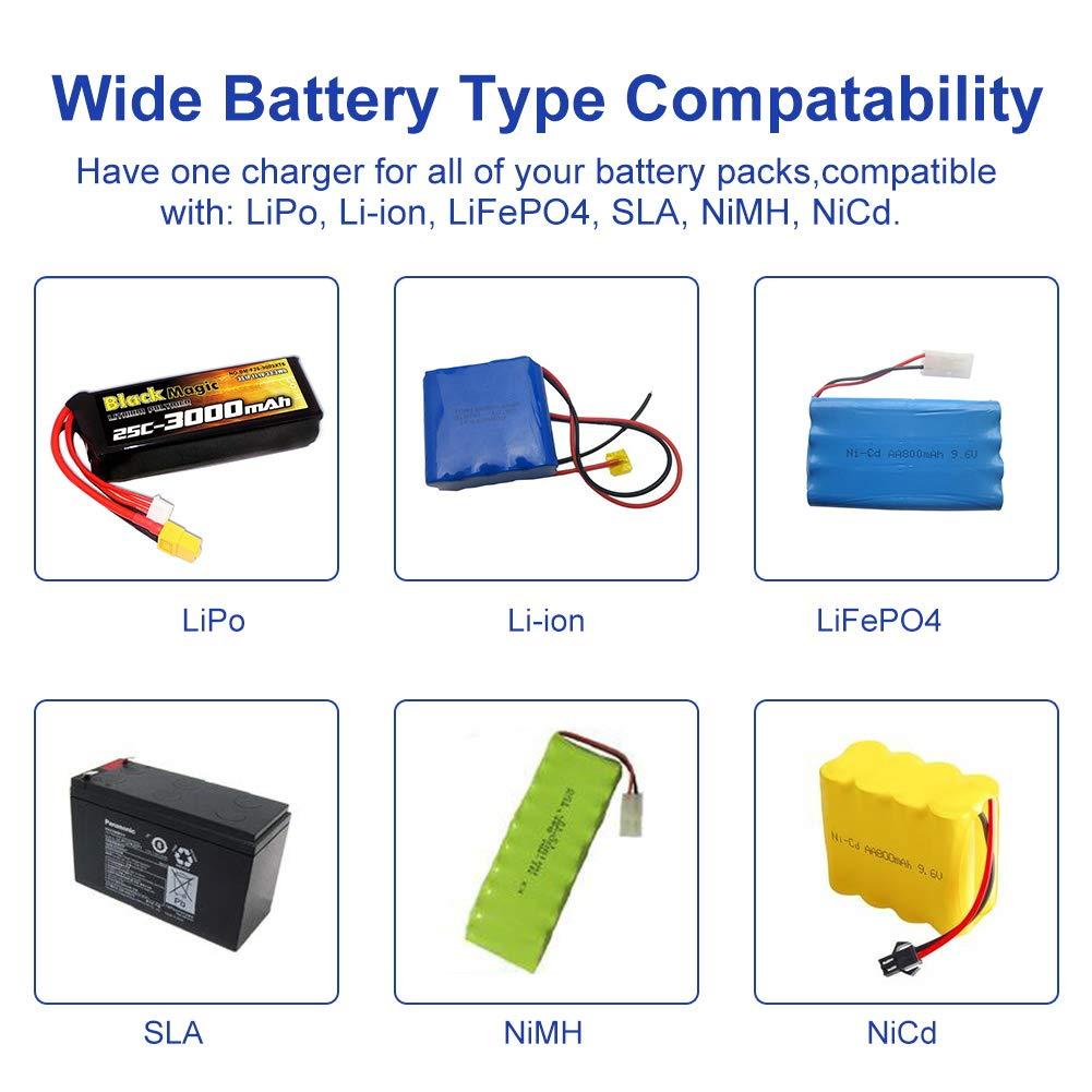 qa EYESKY LiPo Charger 1S-6S Digital Battery Balance Discharger 80W 6A for Li-ion Life NiCd NiMH LiHV PB Smart Battery /…