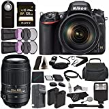 Nikon D750 DSLR Camera with 24-120mm Lens + Nikon AF-S DX NIKKOR 55-300mm f/4.5-5.6G ED VR Lens + Rechargable Battery + Charger + Sony 128GB SDXC Card + HDMI + Case + Remote + Cloth + Flash Bundle