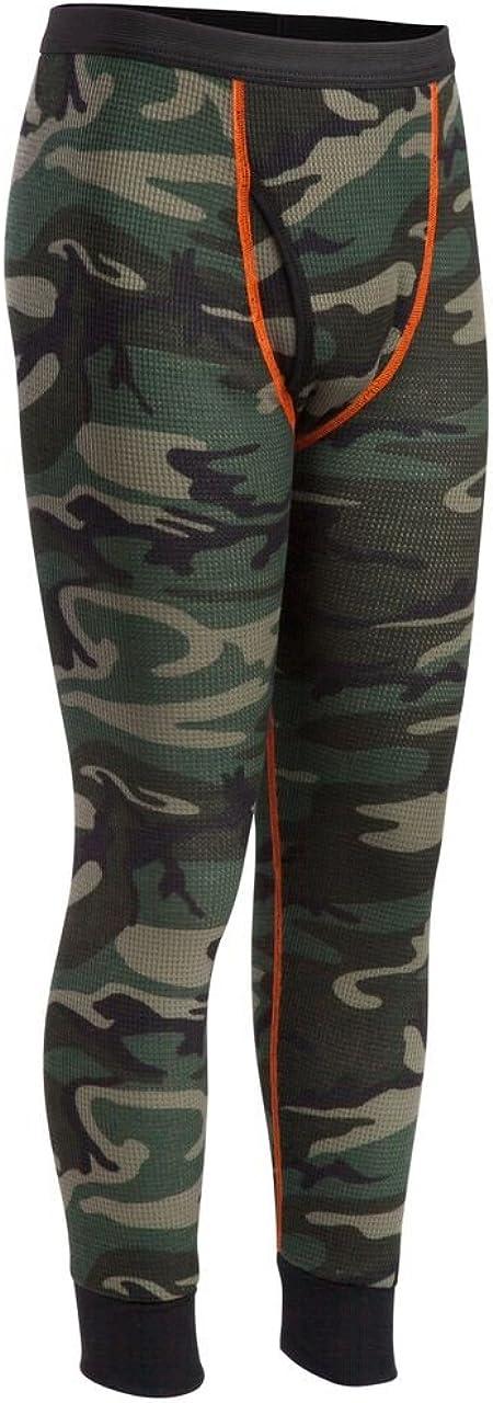 Indera Youth Thermal Underwear Pant, Camo, Medium