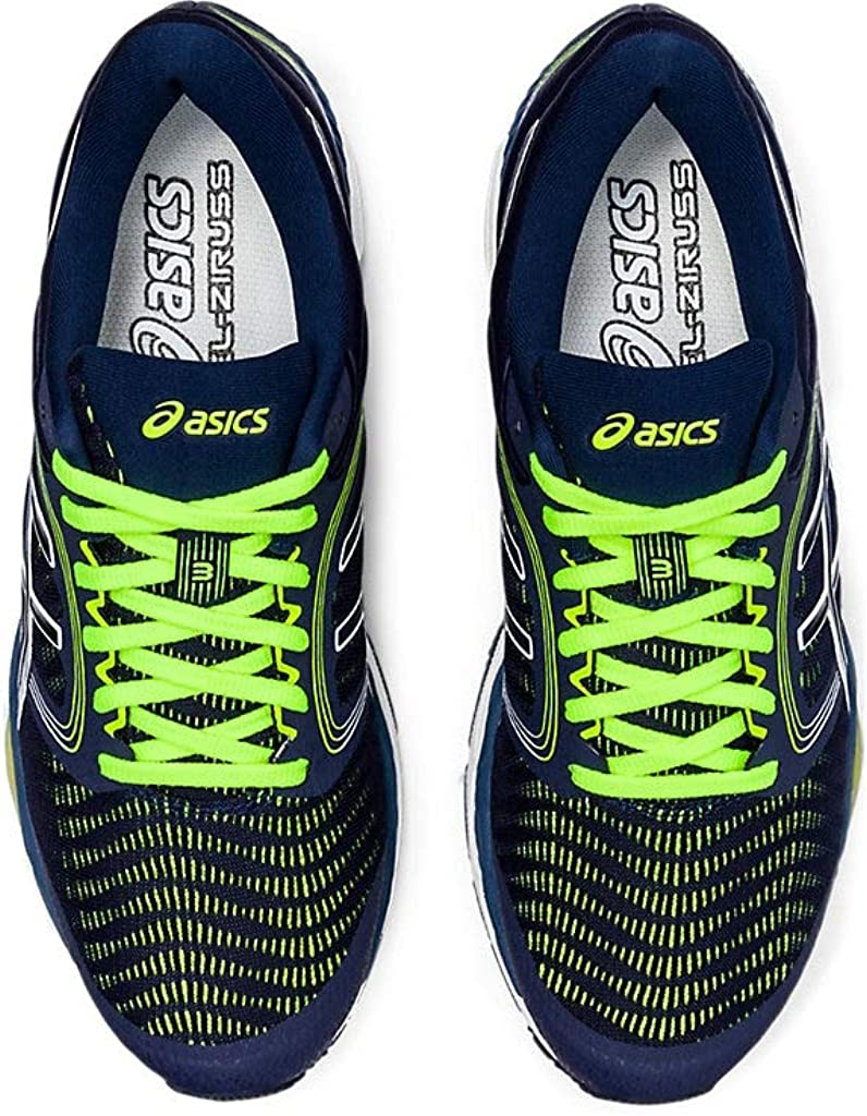 ASICS Mens Gel-Ziruss 3 Running Shoes, 11.5M, Peacoat/Safety Yellow: Amazon.es: Zapatos y complementos
