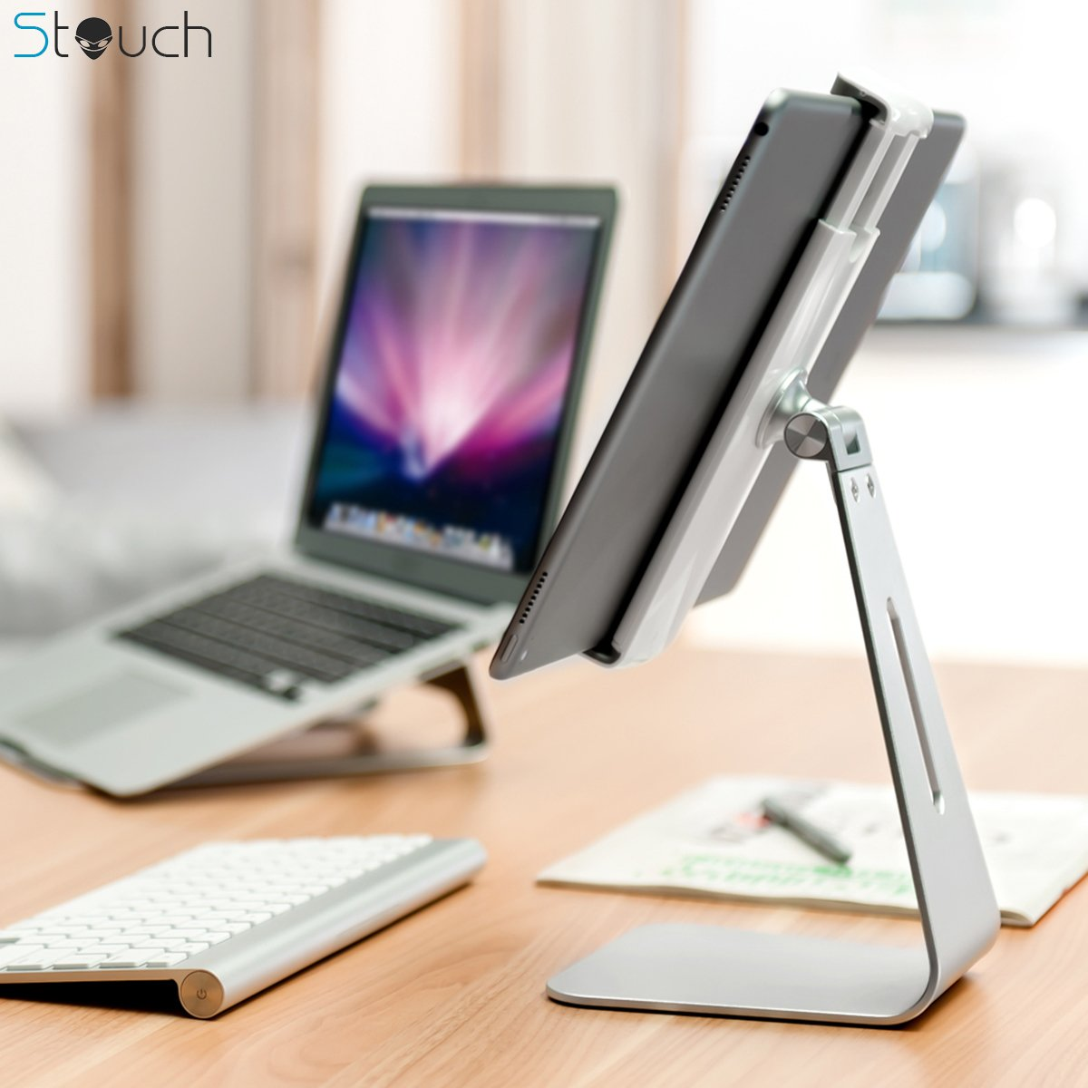 free shipping Viozon ipad Pro Stand, Tablet Stand 360° Rotatable Aluminum Alloy Desktop Mount Stand for Ipad Pro Ipad Air Ipad Mini Surface and Surface Pro