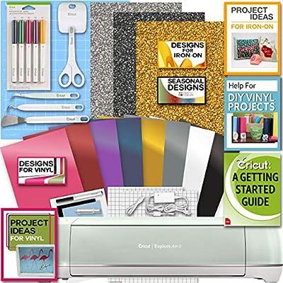Cricut Explore Air 2 Machine Bundle Iron On Vinyl Pack Tools Pen Design Beginner Guide Amazon Com Au Kitchen