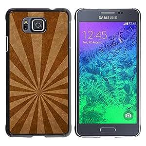 Be Good Phone Accessory // Dura Cáscara cubierta Protectora Caso Carcasa Funda de Protección para Samsung GALAXY ALPHA G850 // Emission lines texture