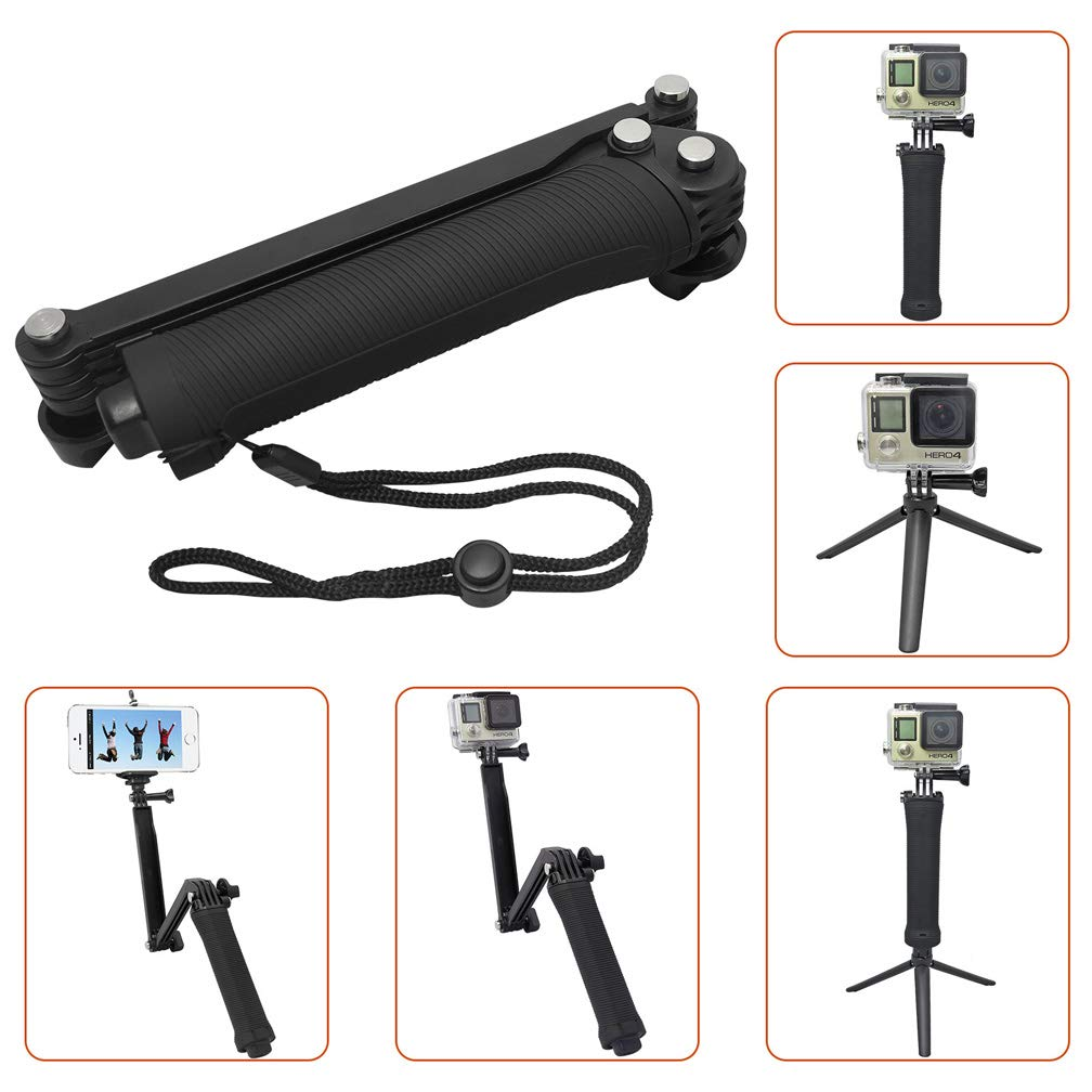 Sporeek Waterproof Floating Hand Grip for GoPro Hero 7/6/5/4/3/2/1GoPro Hero, Detachable Extendable Floating Pole with Tripod Stand, 3 Way
