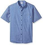 Columbia Men's Big Rapid Rivers Ii Short Sleeve Shirt, Azul Gingham, X-Large Tall
