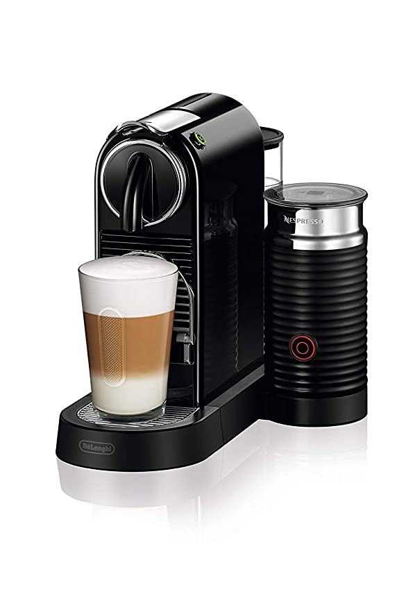 DeLonghi Nespresso Citiz EN267.BAE Cafetera con cápsulas, sistema de extracción especial, 1710 W, 1 L, plástico, Negro