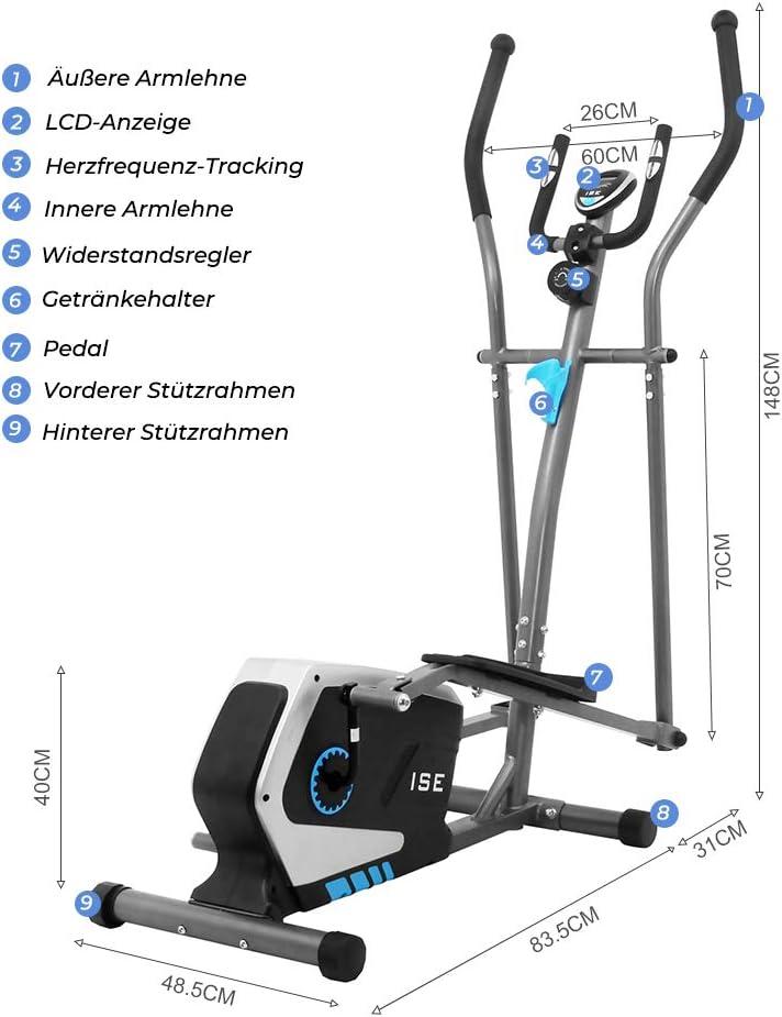 ISESY-9801Elliptical Crosstrainer - Aufstellmaße