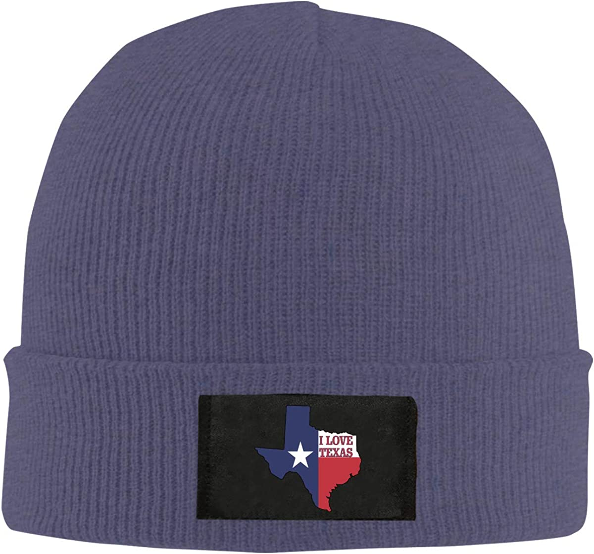 100/% Acrylic Winter Skiing Cap Mens and Womens I Love Texas Texan Flag Knit Cap